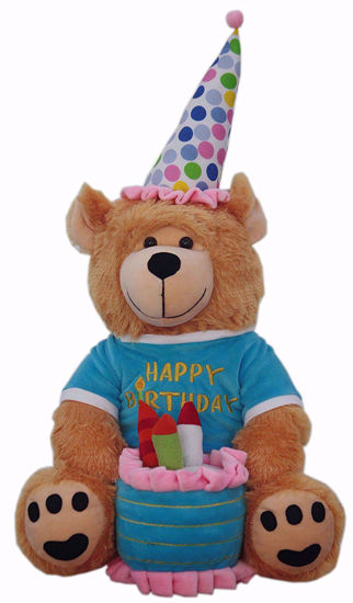 Happy Birthday Teddy Bear( with cake ),happy birthday online