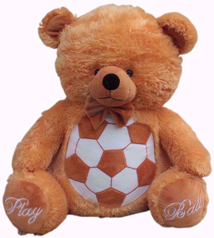 Teddy Bear Football  40 Cm- brown, football teddy bear online