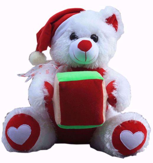 Santa Teddy with Gift 40Cm,  santa teddy onliney