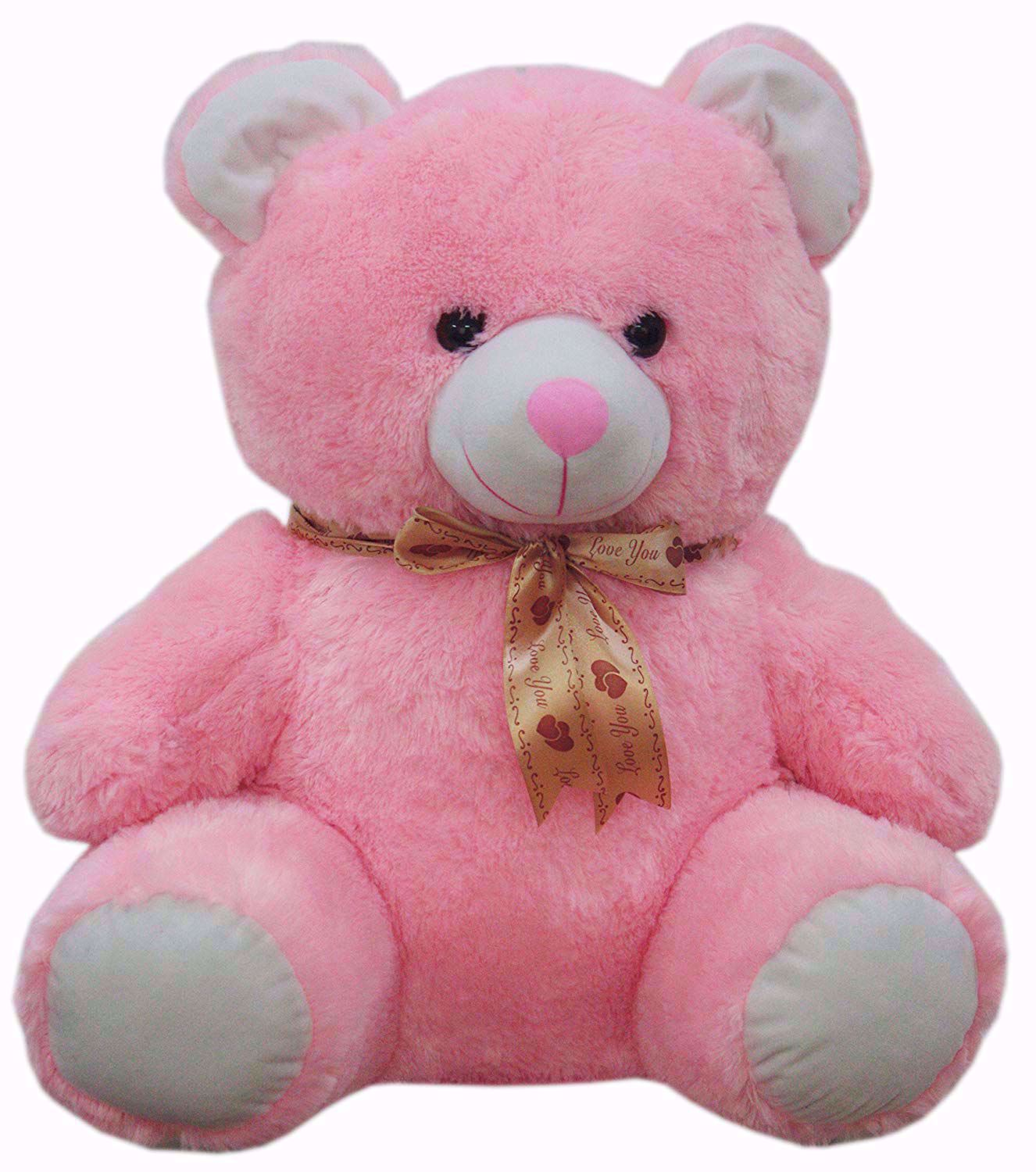 """Teddy With """"L,ove You"""" Ribbon 50cms (Pink), teddy bear with ribban online"""