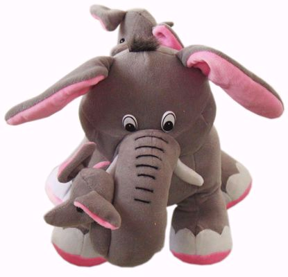 Elephant with Calves, Gray (BJ1193), elephant teddy bear online