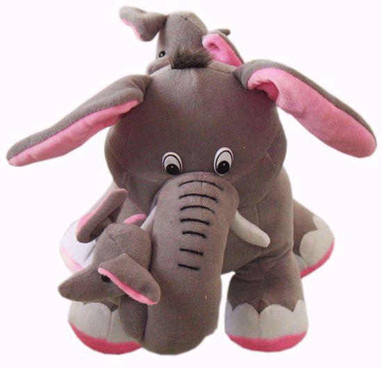 Elephant with Calves, Gray (BJ1193), elephant teddy bear online