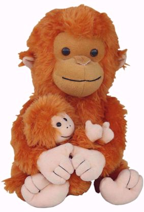 Monkey with baby monkey 30cms BJ 1244,monkey baby monkey online