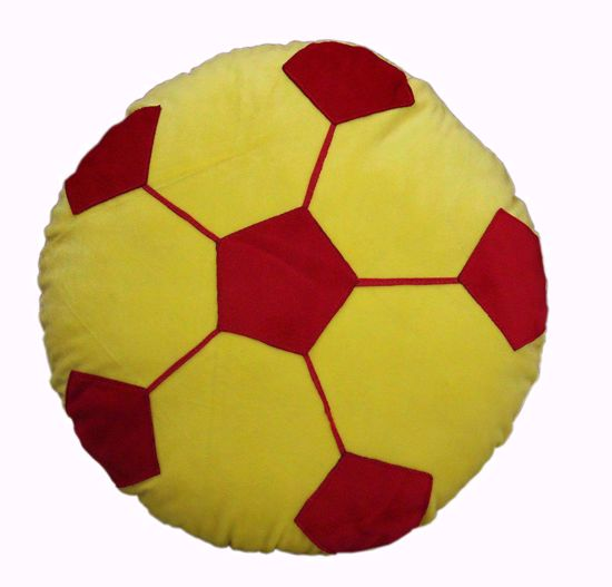 Football pillow-yellow   14- inches-,football pillow online