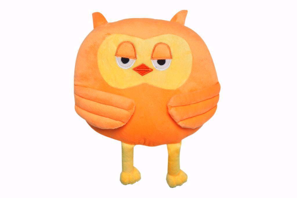 Owl Shape Pillow - orange,owl throw pillow online