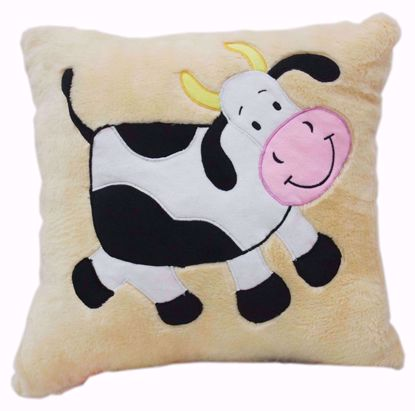 Happy Cow Stuffed Cushion 16x16,cow print cushion online
