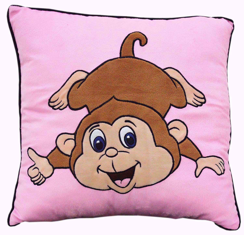 Baby Stuffed Toy monkey  Pillow Pink 16X16 Inch,monkey pillow pet online