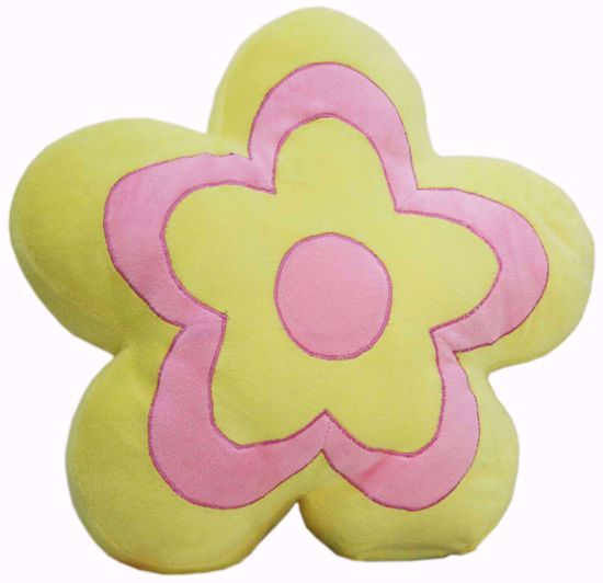 Baby Stuffed Toys Pillow Flower Yellow and Pink ,floral cushions online