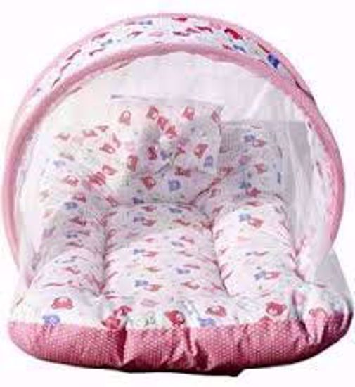 Toddler Mattress with Mosquito Net (Pink) - MT-01-Pink,pink toddler mattress with mosquito net online