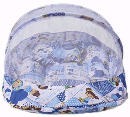 Baby Mattress with Mosquito Net (Blue) - MT-02-Blue,mattress with mosquito net online