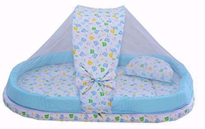 Mattress with Mosquito Net and Bumper Guard (Blue) - MT-06-blue,mattress with mosquito net online
