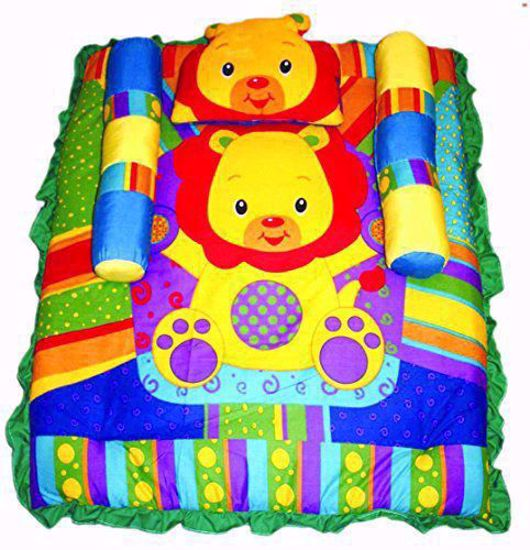 Large Baby Lion Mattress with Quilt (Multicolour) - MT05,baby cot bedding sets sale online