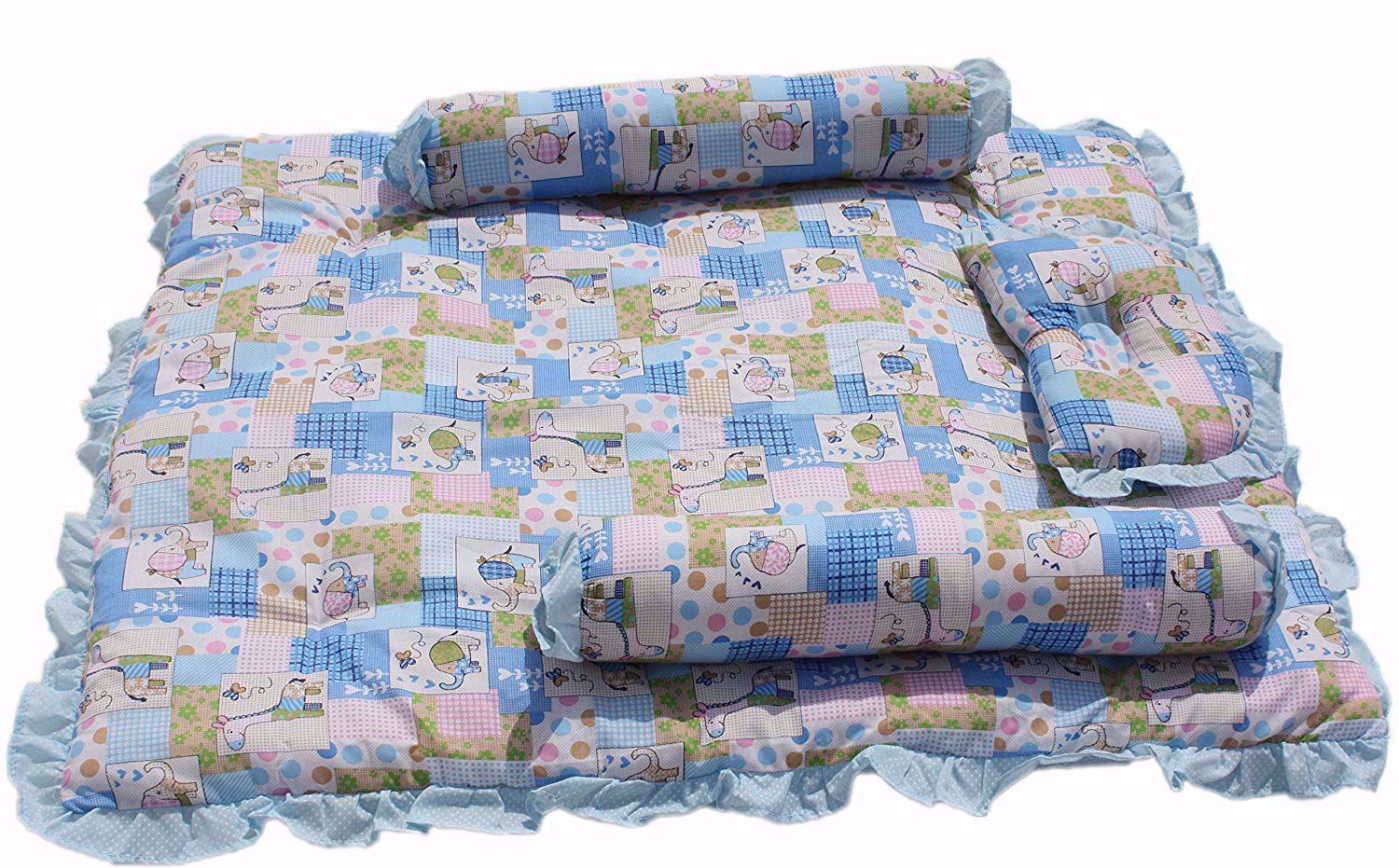 Baby Mattress with Quilt Animal (Blue) - mt03-blue-animal,buy buy baby crib sets online