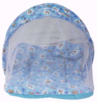 Picture of Toddler Mattress with Mosquito Net (Blue)
