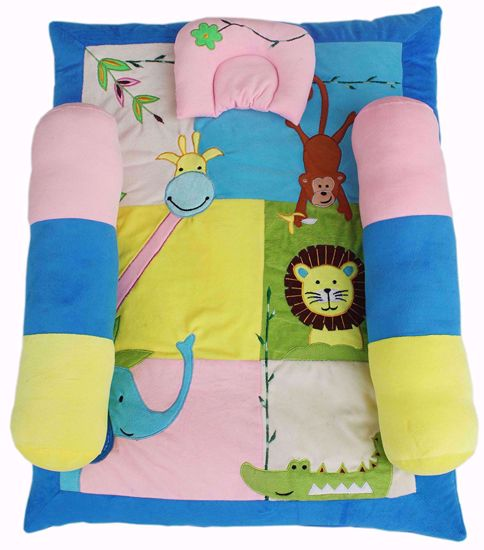 Kids  Mattress Blue Animal  ,cot bedding,baby bedding sets online