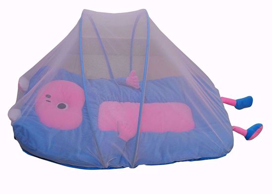 Blue  Mattress with Mosquito Net, Blue,ble mosquito net online
