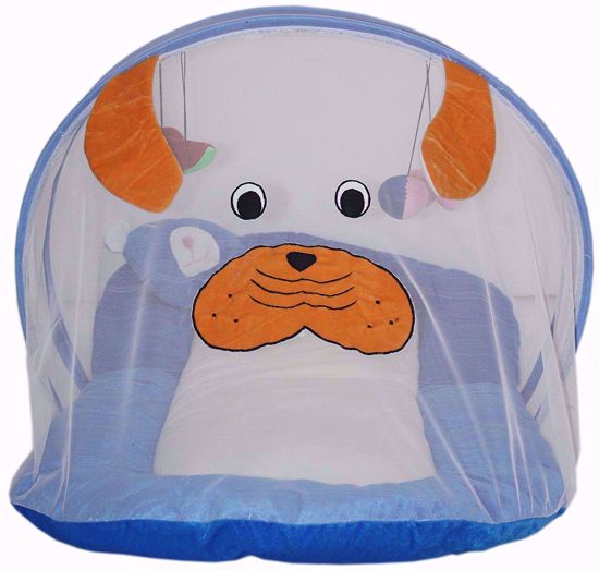 Baby cum Bedding With Mosquito Net Protection. (Blue),mosquito protection net for windows online