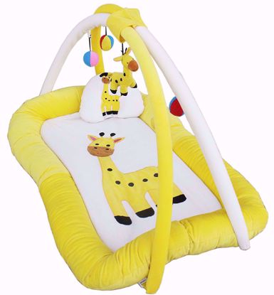 Baby Super Soft  Playgym Cum Play Mat, Cream/Lemon,best baby play gym online