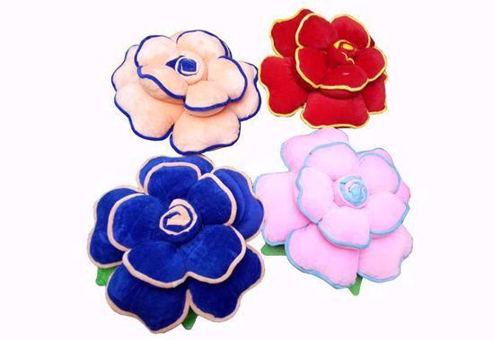 flower pillow-blue-pich-red-pink,flowar pillows online