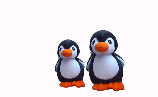 Picture of penguin 18cm 30cm black.