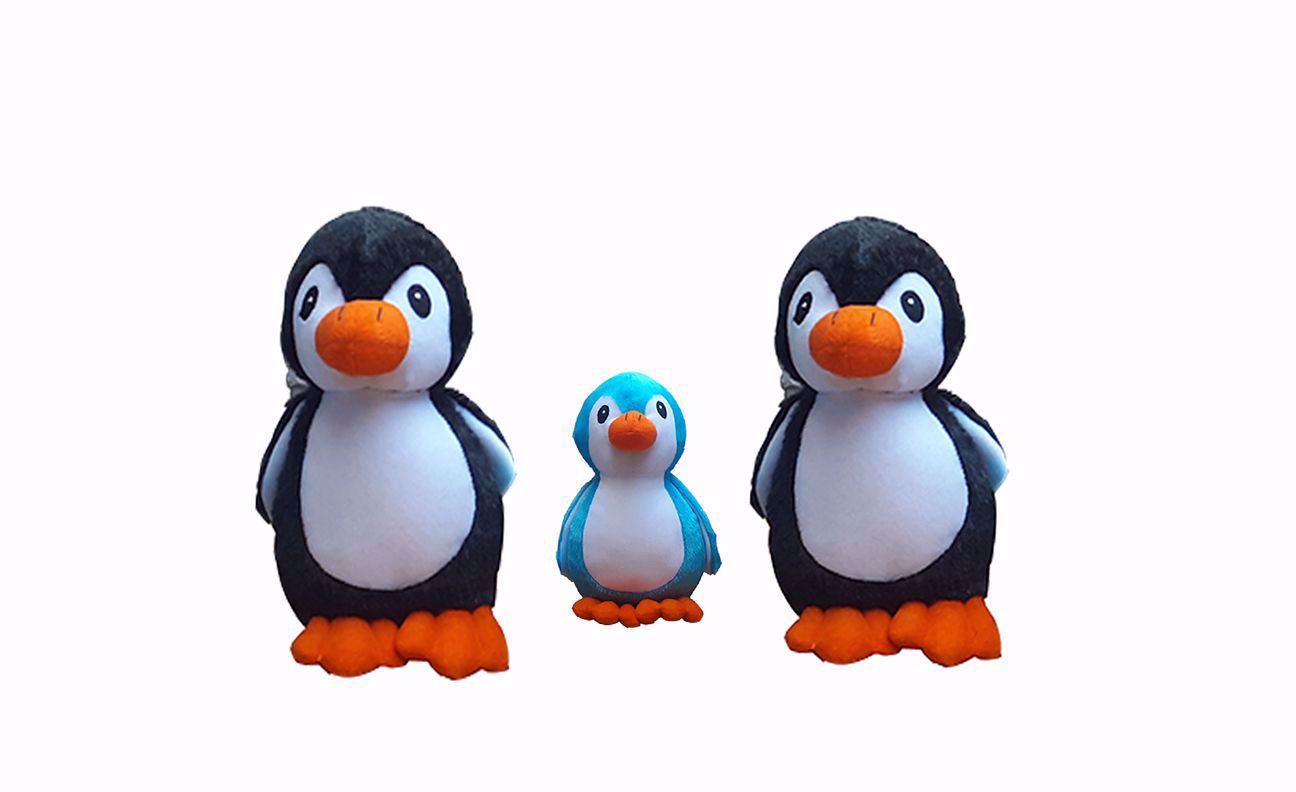Picture of Penguin 40cm Black, 30cm Black And 18cm Blue