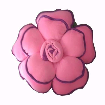 Picture of Flower-Pillow-Pink Dark