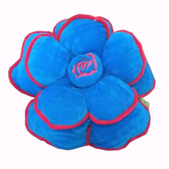 Picture of flower-pillow-blue