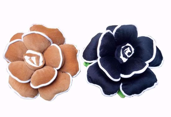 Picture of flower pillow brown ,black