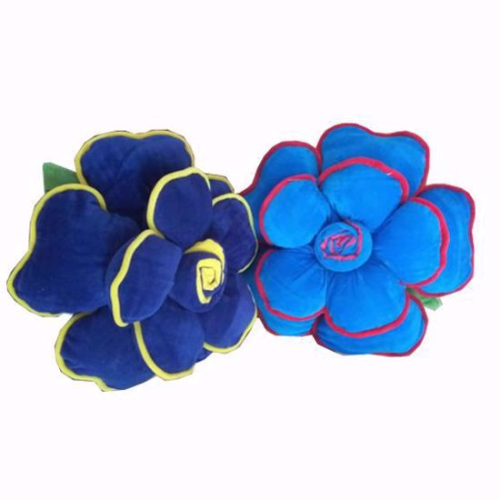Picture of flower pillow blue-2