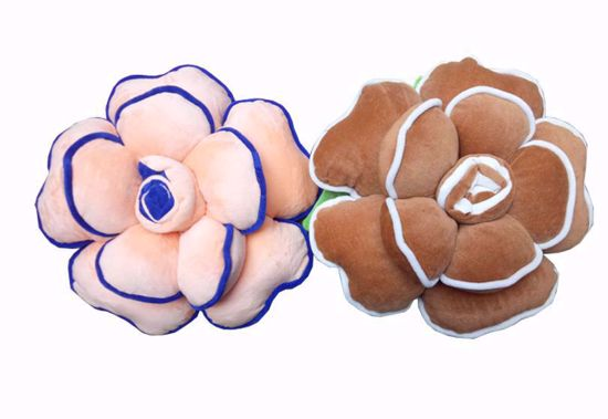 Picture of Flower Pillow Peach ,Brown