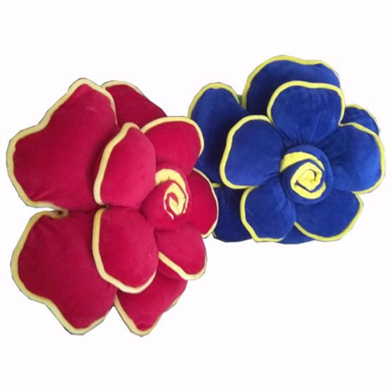 Picture of Flower Pillow Red And Nevi Blue