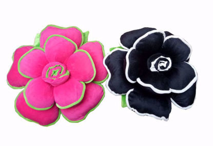 Picture of pillow d- pink and black.
