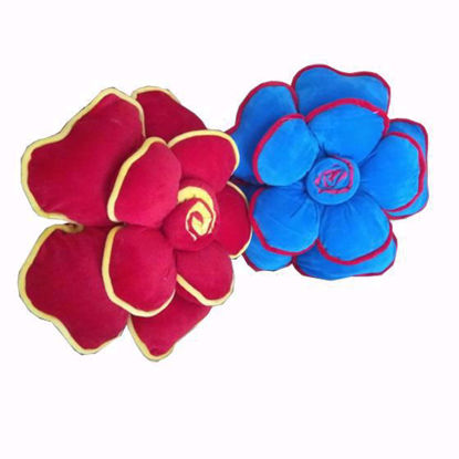 Picture of Flower Pillow (Red-Blue)