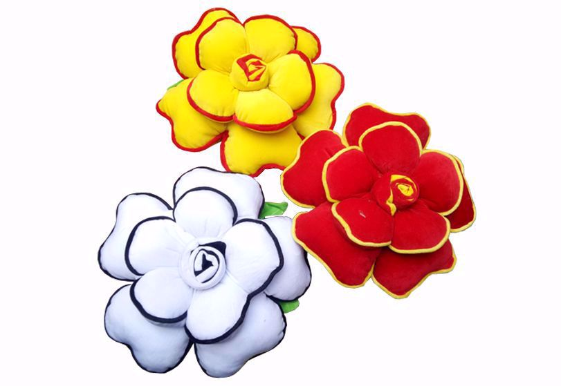 Picture of flower pillow set -3