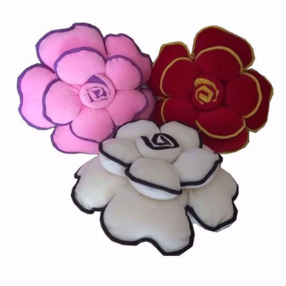 Picture of flower pillow set of -3