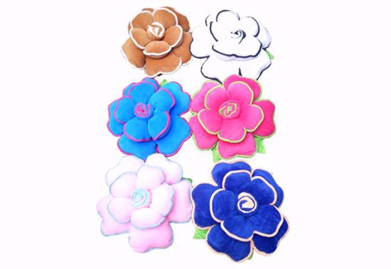 Picture of Flower Pillow Set -6 White