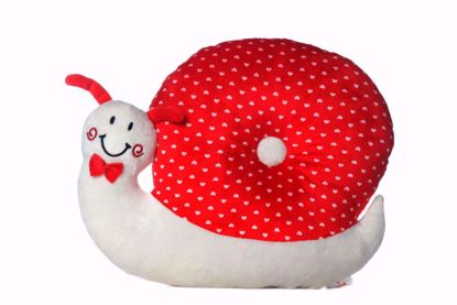 Picture of Snail  Pillow-( red-white)