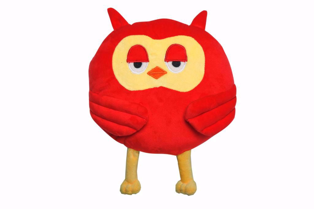Picture of Owl Shape Pillow -Red