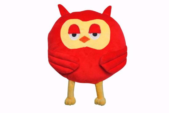 Picture of Owl Shape Pillow - red