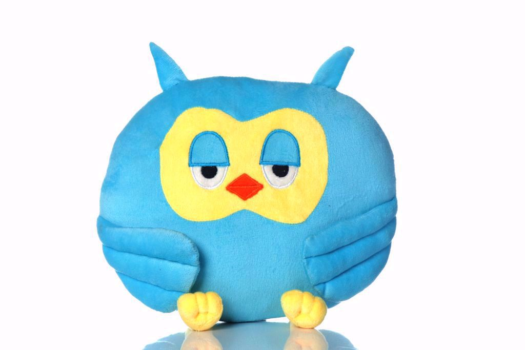 Picture of Owl Shape Pillow - blue