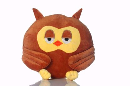 Picture of Owl Shape Pillow -Brown