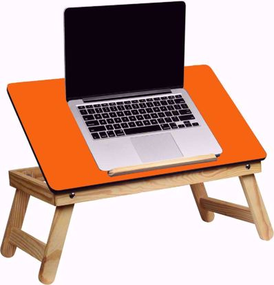 Laptop Desk Bed Student Study Meal Table Orange