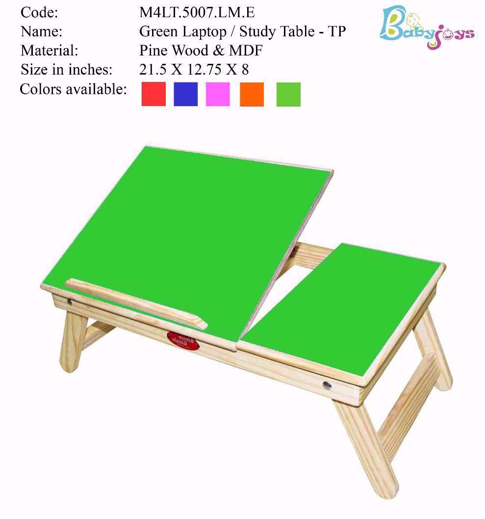 Baby Laptop Table Green Half