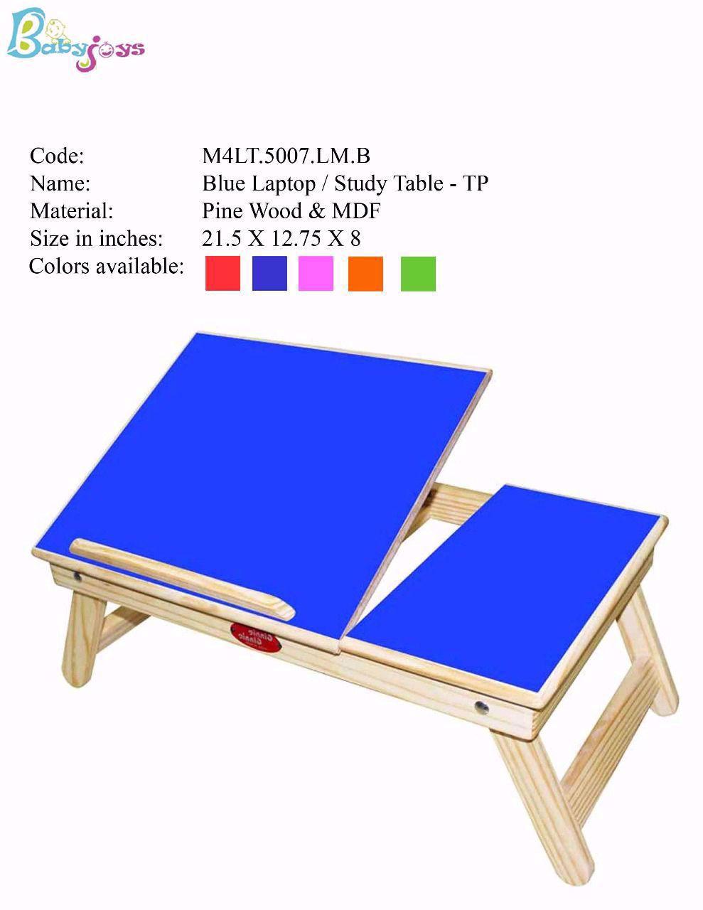 Baby Table Blue Half
