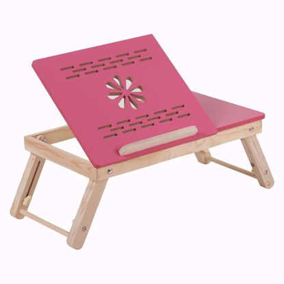 Laptop Table – Pink Half Flower Design