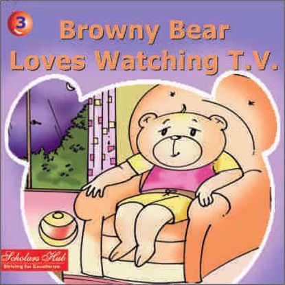 Browny Bear Loves Watching T.V.
