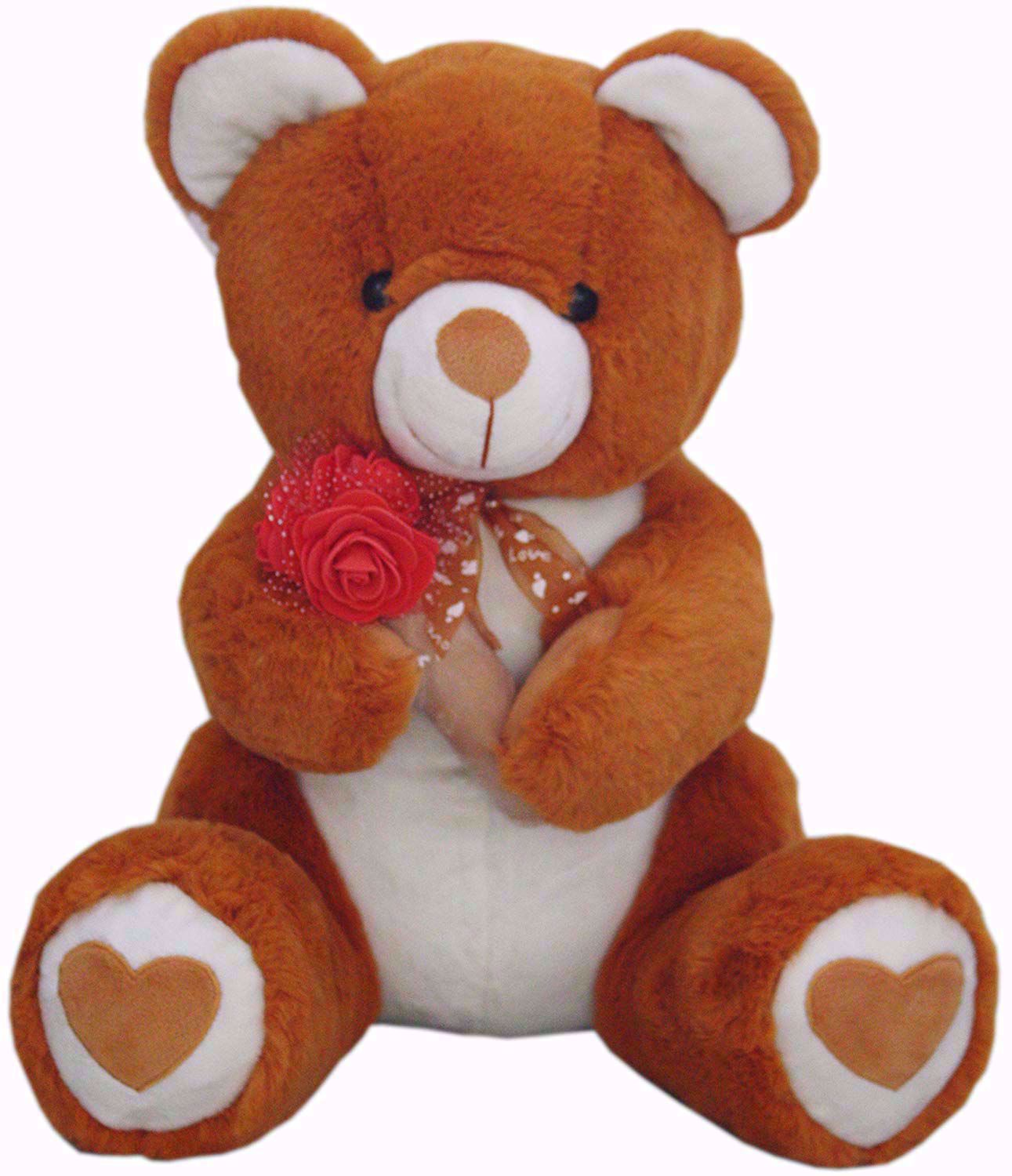Brown Teddy With Roses