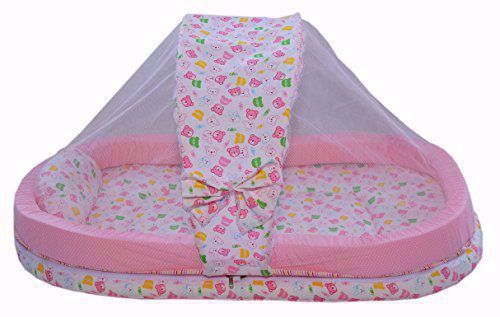 Mattress with Mosquito Net Pink Teddy