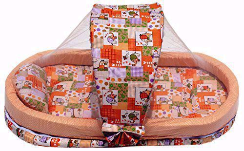 Baby Mattress with Mosquito Net and Bumper Guard
