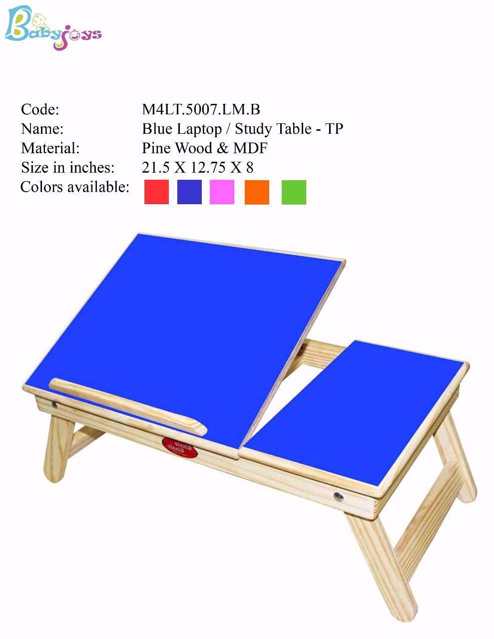 Baby Laptop Table Blue Half